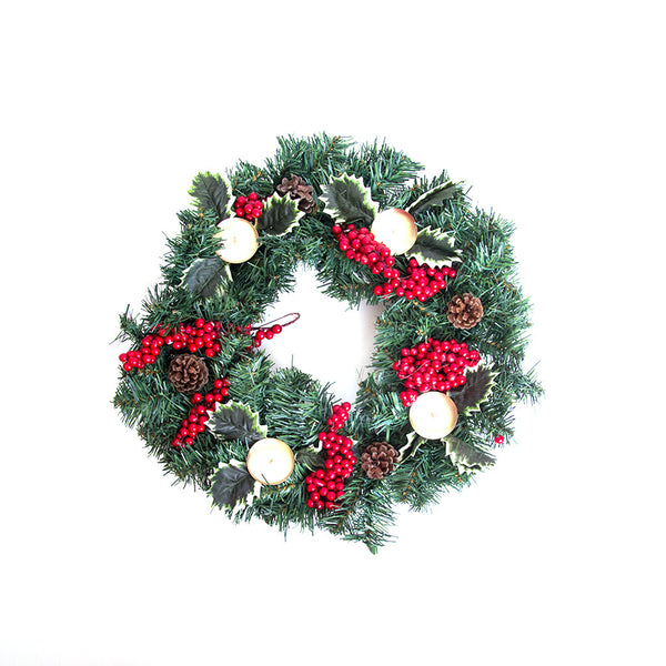 "Christmas Advent Wreath 18"" - Berries"
