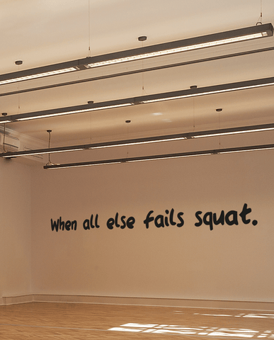 fails squat bold wall quote