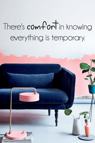 Comfort in knowing slim wall quote