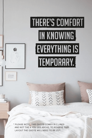 Comfort in knowing cut out wall quote
