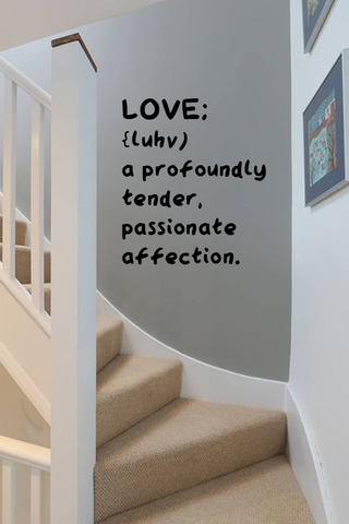 Love definition bold wall quote