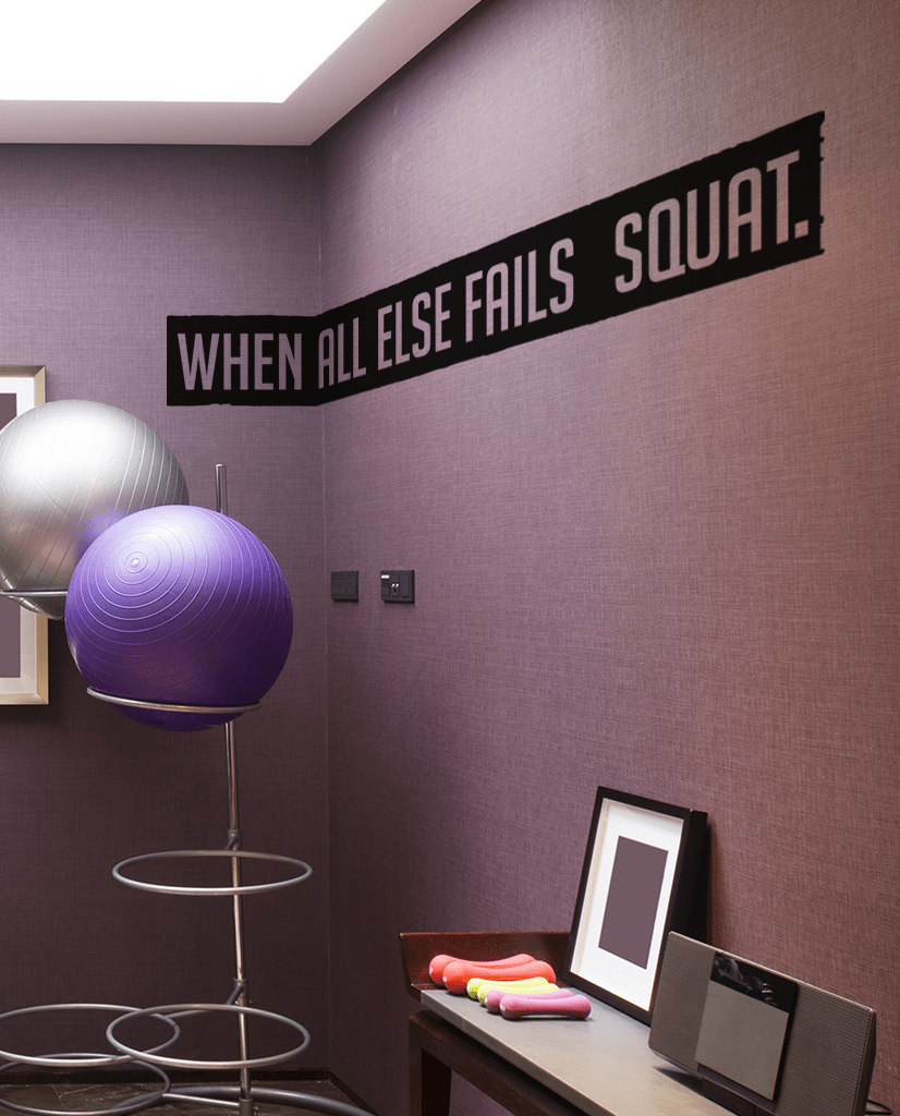Fails squat cut out wall quote