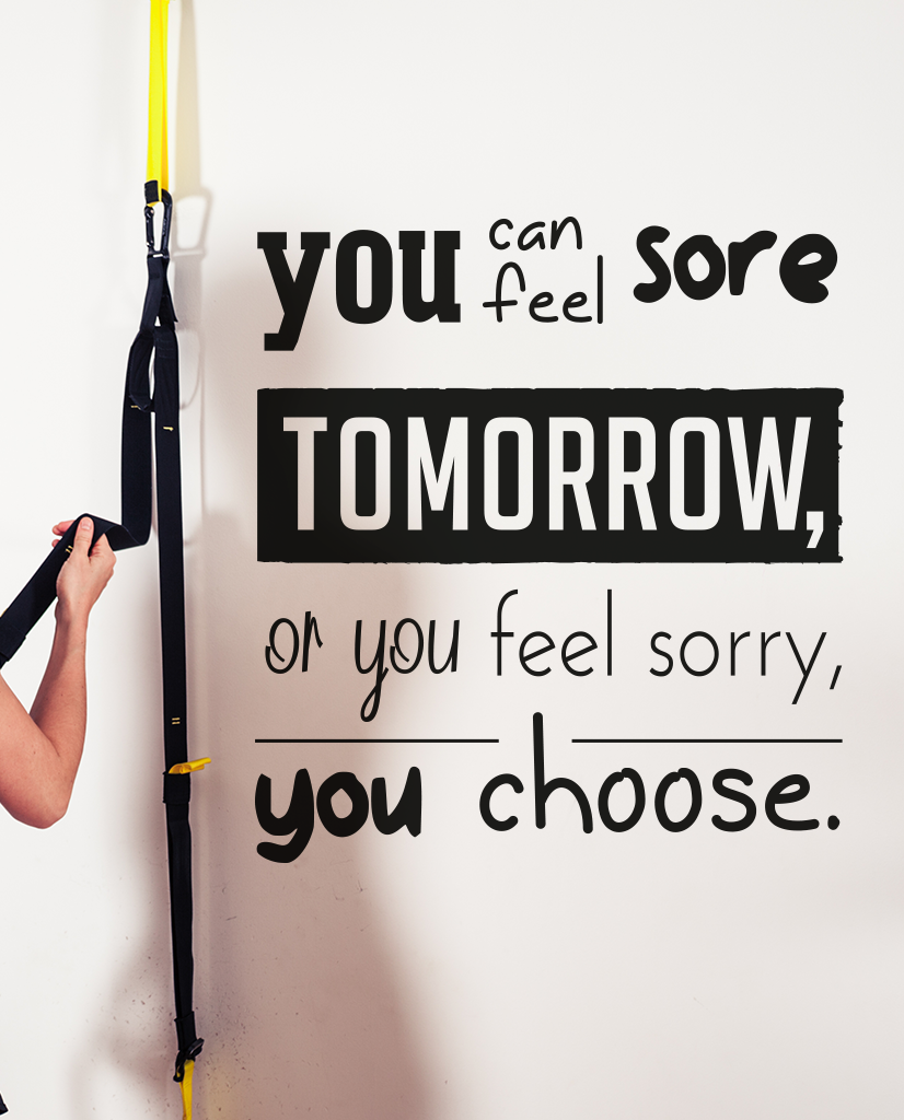 Designed Feel sore or feel sorry wall quote