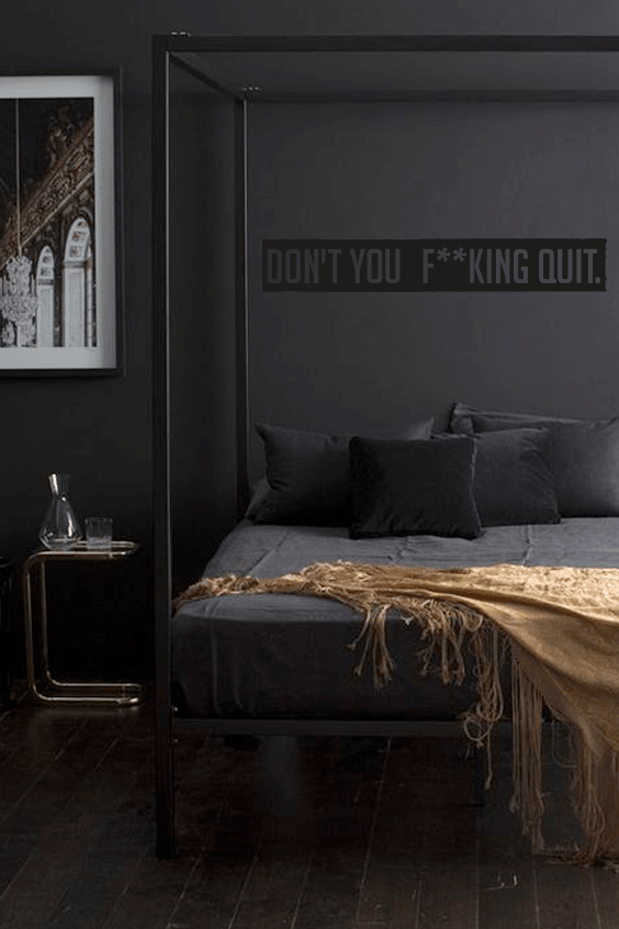 F**king quit cut out wall quote