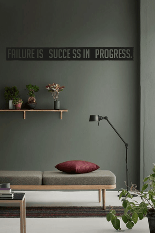 Failure is success in progress cut out wall quote