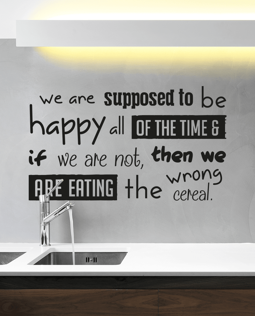 Designed happy all of the time wall quote
