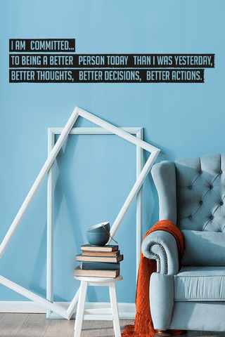 Better person cut out wall quote