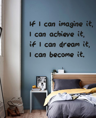 If I can imagine it bold wall quote