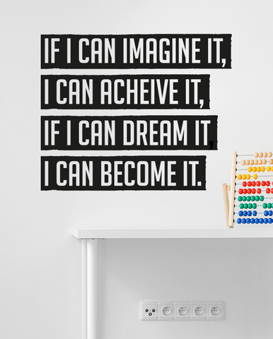 If I can imagine it cut out wall quote