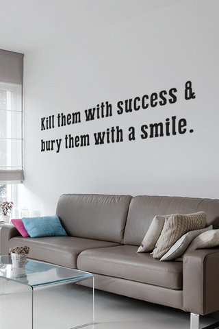 Success & Smile bold wall quote