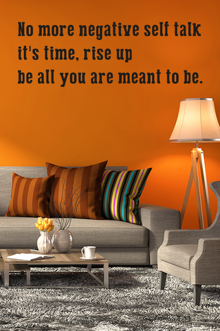 Rise up be all you are meant to be bold wall quote