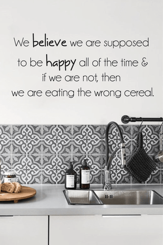 Wrong cereal slim wall quote