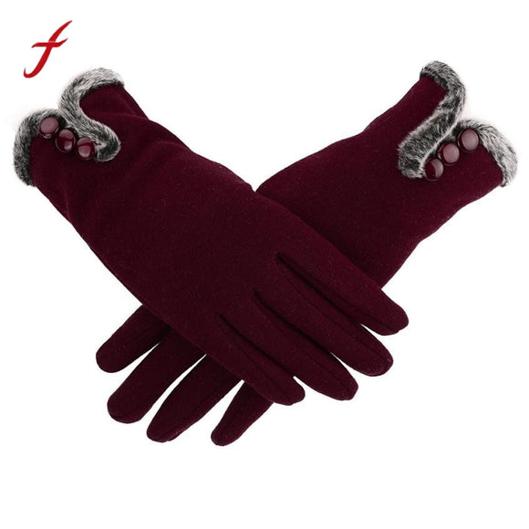 Ladies Warm Winter Gloves Perfect For Touch Screens