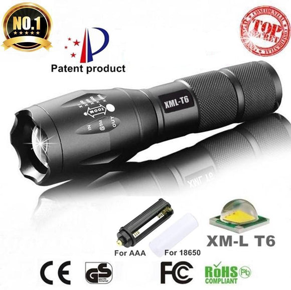 Waterproof Flashlight With Ultra Zoom
