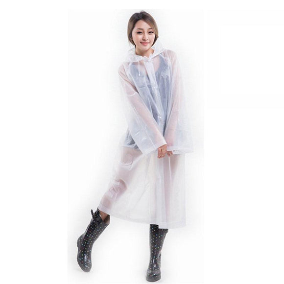 Fashionable Transparent Poncho Raincoat