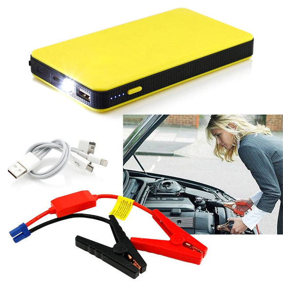 Mini Portable 12v Car Battery Jump Starter And Power Bank.
