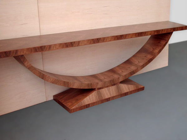 Art Deco Style African Walnut Console Table