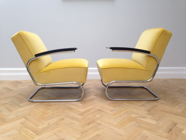 Thonet Bauhaus Cantilever Chrome Chairs Model S411