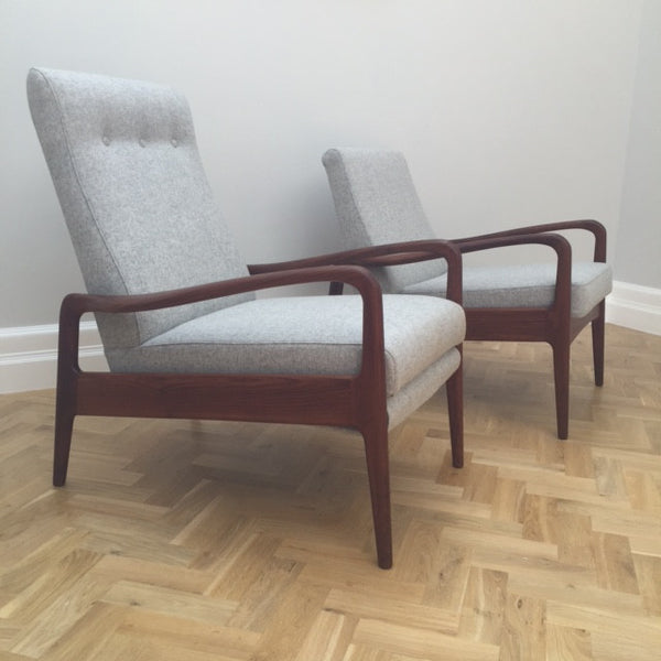 Pair of Greaves and Thomas Reclining & Standard Armchairs