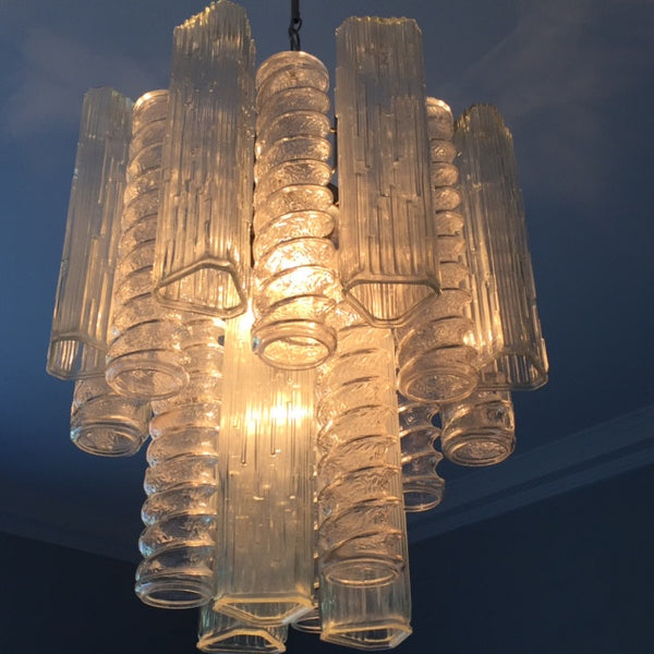 1960s Vintage Murano Glass Chandelier