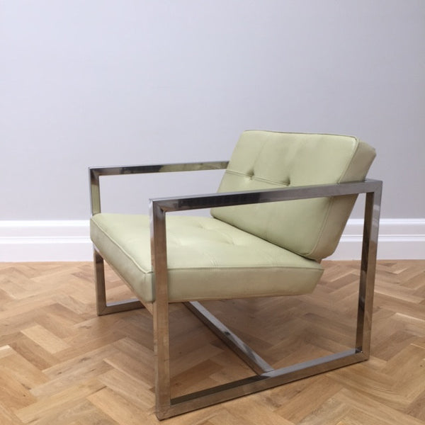 Milo Baughman Style Club Chair
