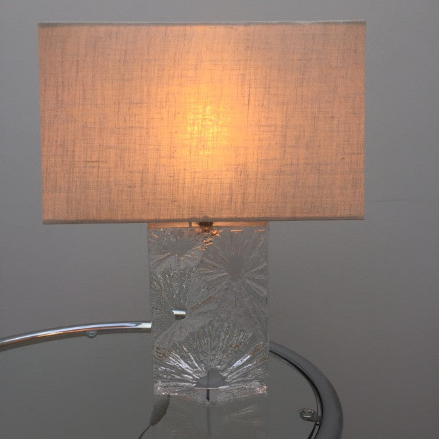 1970s Daum Crystal Sunburst Lamp