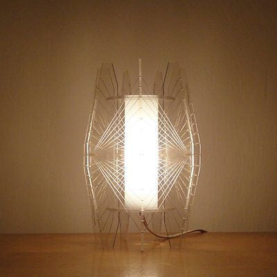 1960s Retro Lucite String Art Lamp