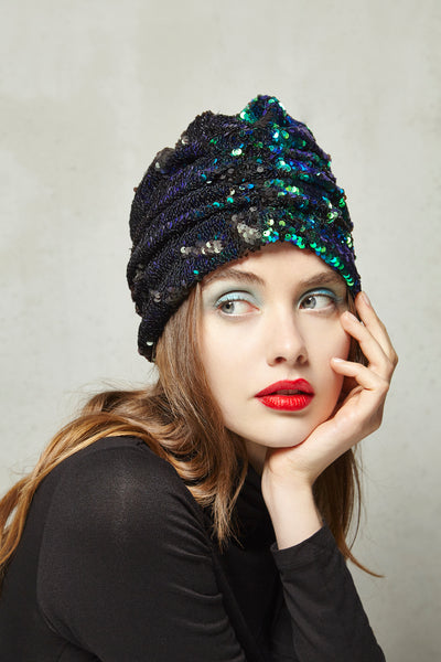 JACQUELINE Turban in Paillettes