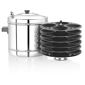 Premier Idli Maker with 6 Nonstick Racks