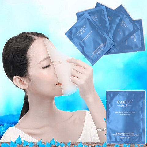 1pc Hyaluronic Acid  Face Facial Mask Deep Moisturizing Skin Care Younger - Shopping2all - 1