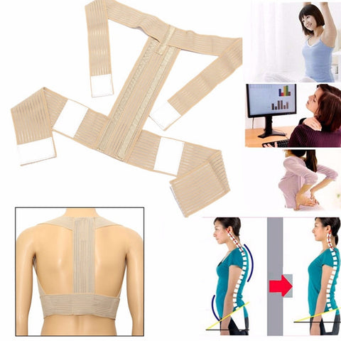Adjustable Posture Corrector Back Support Belt Shoulder Correct Lumbar Brace - Shopping2all - 1