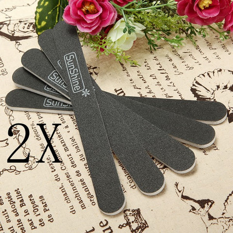 10 pcs Sanding Nail Art File Buffer Salon Glitter Tools Sandpaper - Shopping2all