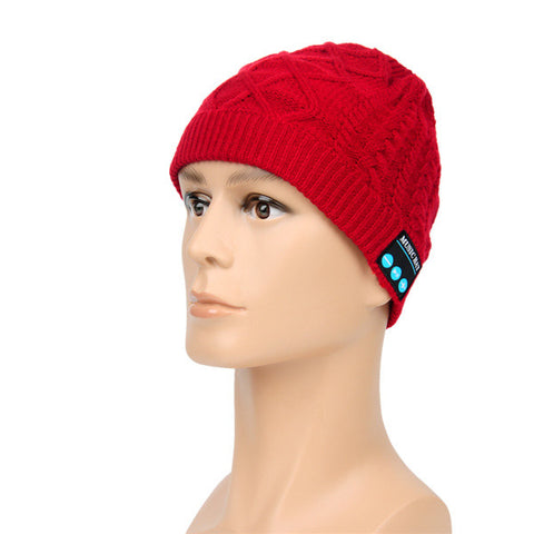 Bluetooth Music Hat With Built-in Stereo Speakers Hands-free Winter Warm Knitted Cap - Shopping2all - 1
