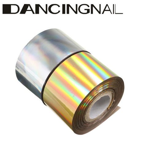 1 Roll 4CM X 110M Starry Gold Silver Nail Transfer Foil Sticker Manicure Decoration Paper - Shopping2all