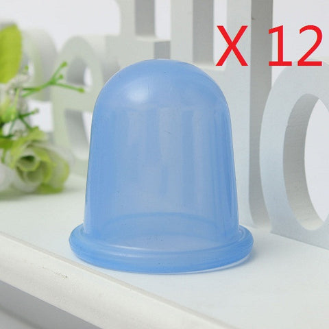 12Pcs Blue Silicone Body Massage Anti Cellulite Vacuum Therapy Cupping Cups - Shopping2all - 1