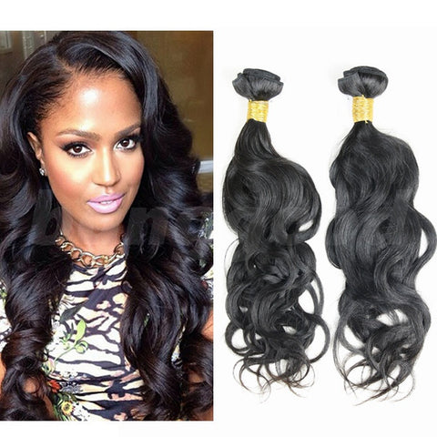 6A Grade Brazilian Virgin Unprocessed Nature Wave 100% Real Human Hair Extension - Shopping2all - 1
