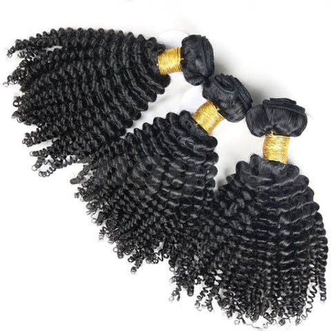 7A Grade Brazilian Virgin Unprocessed Kinky Curly 100% Real Human Hair Extension - Shopping2all - 1