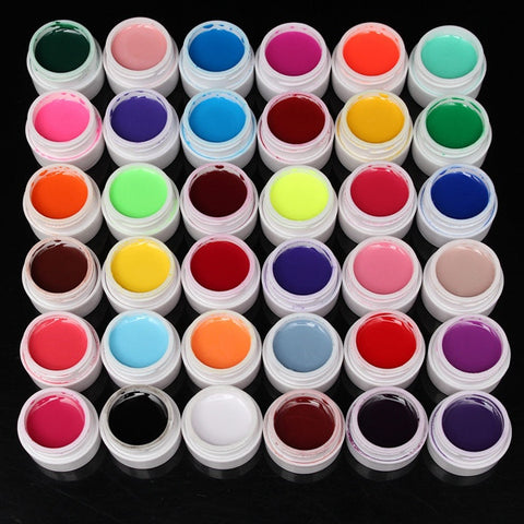 36 Pure Colors 5ml UV Gel Builder Nail Art DIY Decoration Manicure - Shopping2all - 1