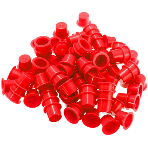 100pcs Disposable Professional Plastic Tattoo Ink Cups Caps Cup Supplies Red 3 Sizes - Shopping2all - 1