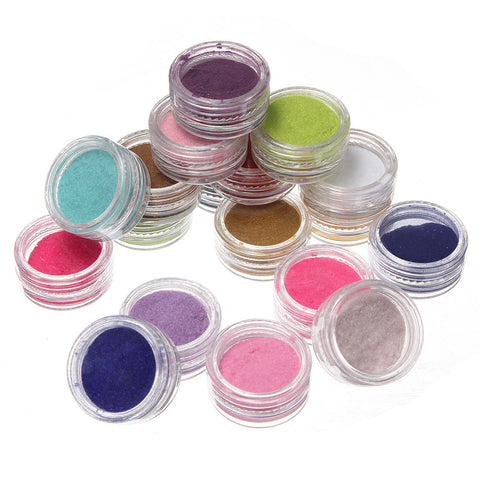 18 X 3D Flocking Powder Velvet Nail Art Polish Decoration - Shopping2all - 1