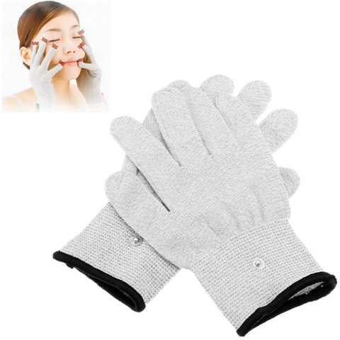 1 Pairs TENS Conductive Pulse Electrode Massage Gloves Physiotherapy - Shopping2all