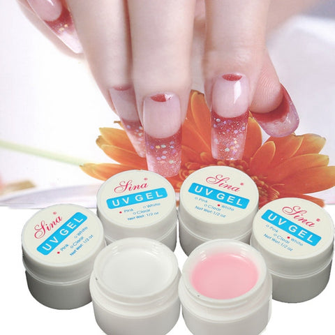 3Pcs Pink White Nail Art UV Gel Builder Manicure Extension - Shopping2all - 1
