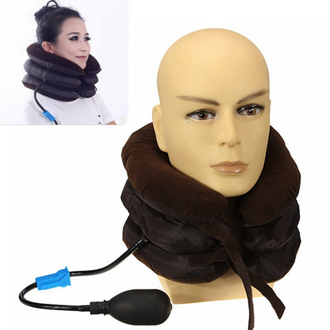 Air Cervical Neck Traction Soft Brace for Headache Head Back Shoulder Neck Pain - Shopping2all - 1