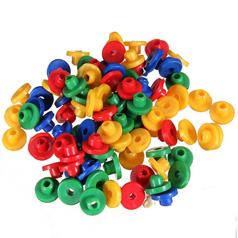 100 Mix Colorful Rubber Grommets Nipples Tattoo Machine Needles - Shopping2all - 1