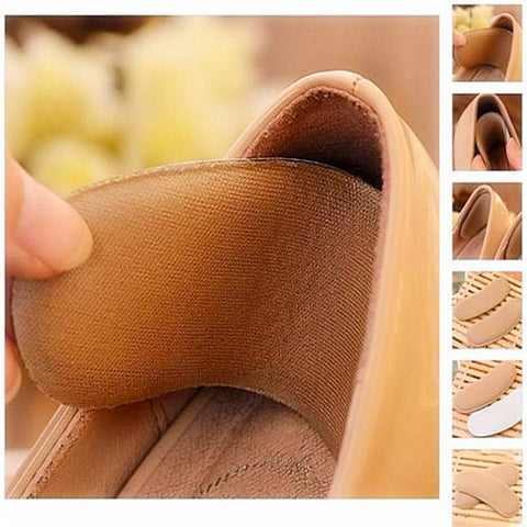 1 Pair Fabric Back Heel Insole Pads Cushion Protector Shoes Inserts - Shopping2all