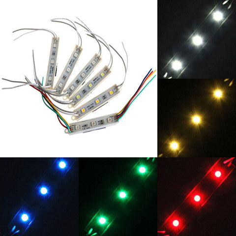 1 Piece 5050 SMD 3 LED Module Rigid Strip String Light Multi-Colors Waterproof DC 12V - Shopping2all
