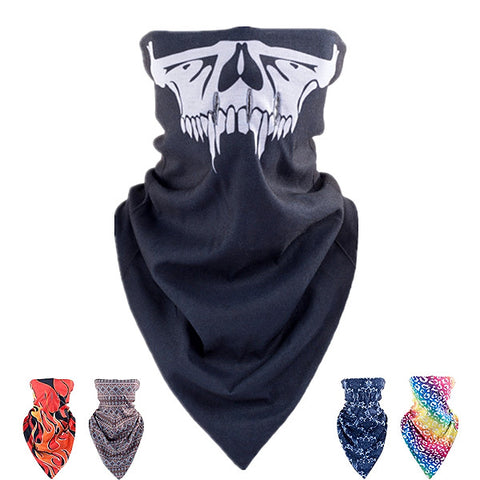 Skull Triangular Scarf Winter Ski Windproof Hood  Bicycle Hunting Thermal Half Face Mask - Shopping2all - 1