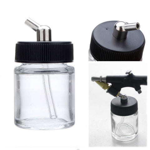 22cc Airbrush Jar Professional Airbrush Glass Bottle Pot - Shopping2all - 1