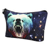 3D Starry Sky Bear Makeup Bag Animal Cosmetic Handbag with Zipper Lady Travel - Shopping2all - 2