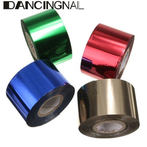 1 Roll 4CM X 110M Starry Red Royalblue Green Champagne Nail Transfer Foil Sticker Manicure Decoration - Shopping2all - 1